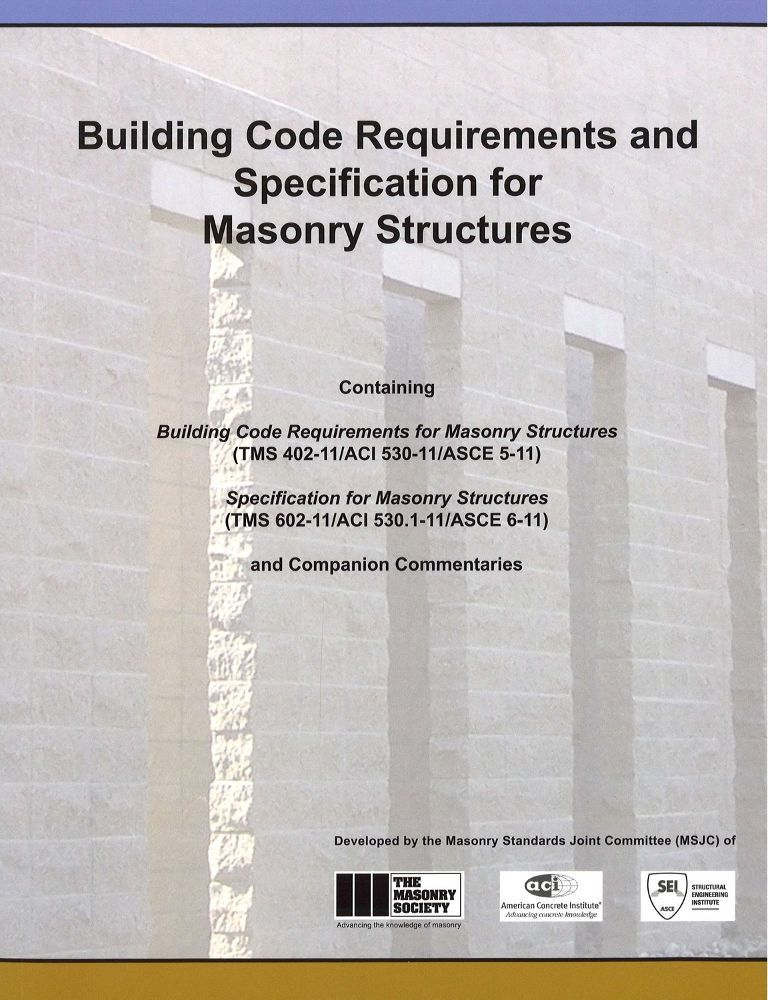 ACI 530-11 Building Code Requirements for Masonary Structures